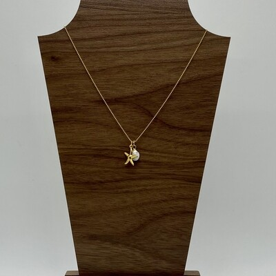 14k Gold Plated Arena Necklace 16