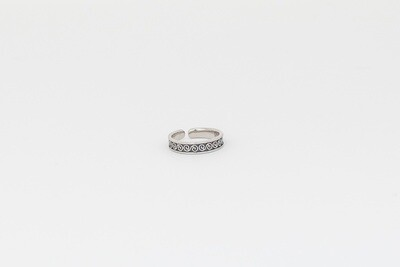 925 Silver Trivales Toe Ring