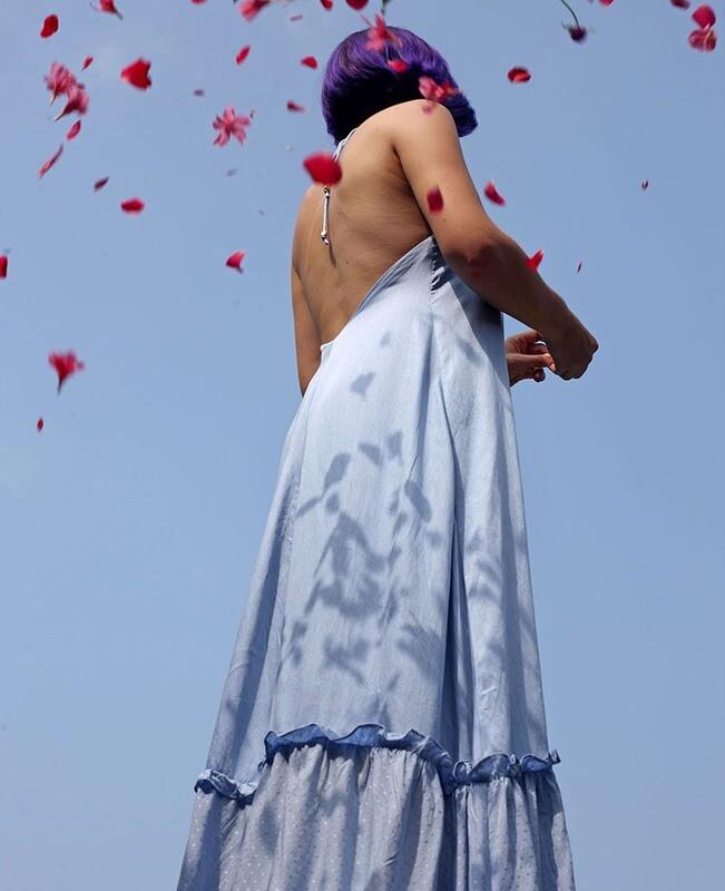 IRENA DRESS BLUE