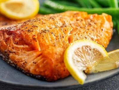 MON, AUG 9: Mustard Crusted Salmon
