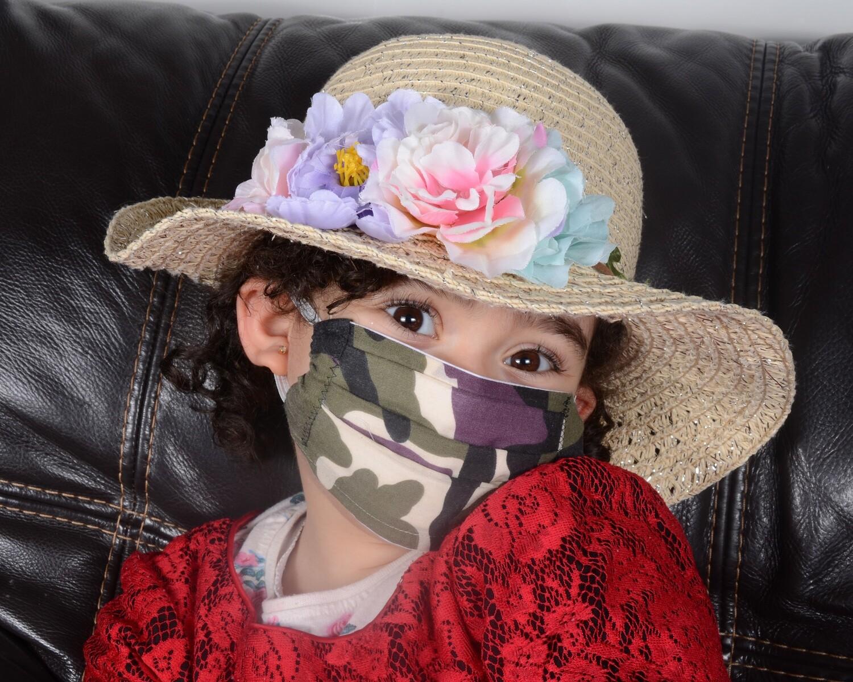 UK ADULT women face mask filter pocket nose bridge wire  fabric washable UK