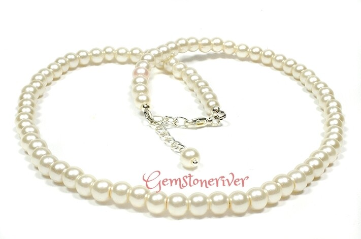 N210 Cream Ivory Pearl Necklace Earrings SET - Chelsea