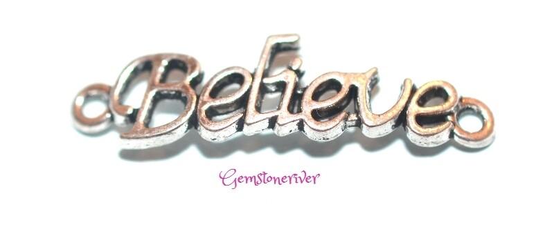 Believe - Lucky Charm for necklace earrings bracelet keyring mobile phone - UK Designer handmade jewellery | Gemstoneriver®