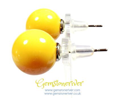 E262 Stylish Bubblegum Yellow Pearl earrings - KYLIE Bridesmaids Flower Girl Prom Bridal Party Jewellery | Gemstoneriver®