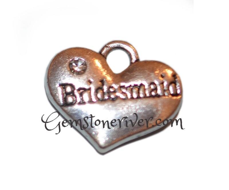 Bridesmaid Rhinestone Sparkly Crystal Charm - UK Wedding Jewellery | Gemstoneriver®