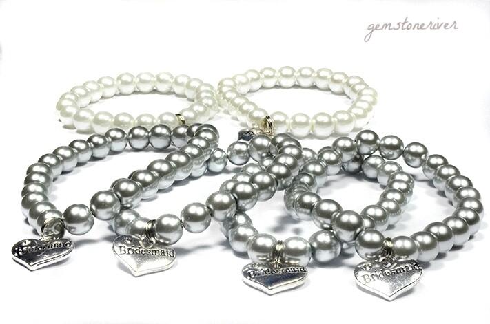 SOLD Karla Custom Order Wedding SET 6 Pearl Bracelets