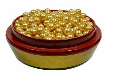 Yellow golden pearl beads 100 x 6mm arts craft & jewellery supplies UK