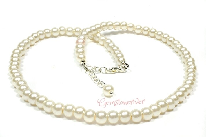 N154 Cream Ivory Necklace Bracelet & Earrings Set Wedding Mother's Day Birthday Baby Shower gifts UK
