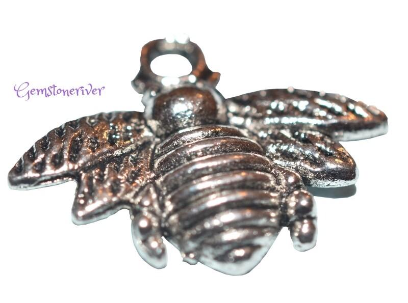 Bee Charm for necklace earrings bracelet keyring lucky charm jewellery | Gemstoneriver®