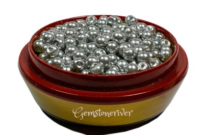 SB306 Silver Gray pearl beads 100 x 6mm/8mm/ art craft & jewellery designer supplies Gemstoneriver UK