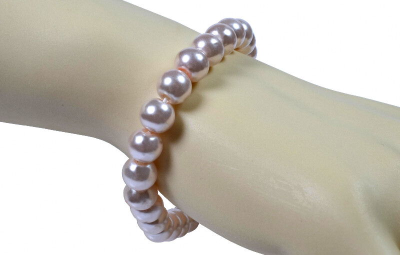 Stylish Baby Pink Blush Pearl Bracelet UK Gifts