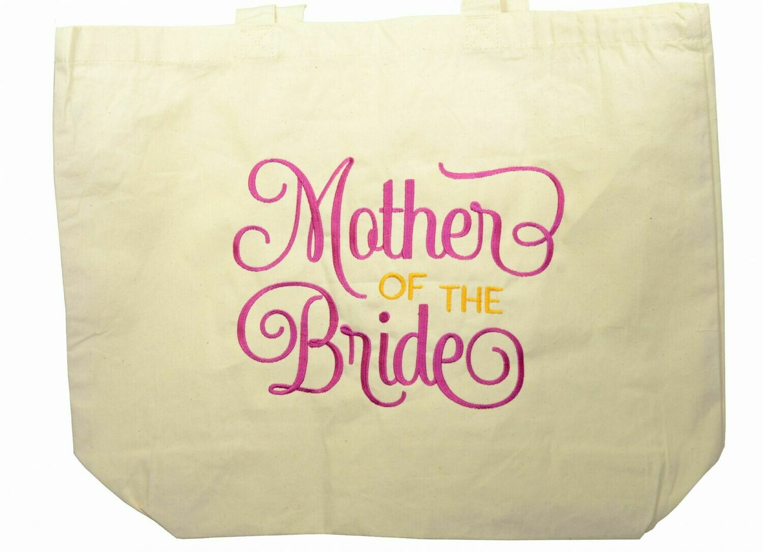 BA1 Organic Tote Bag - Mother of the Bride personalised wedding gift carrier bag