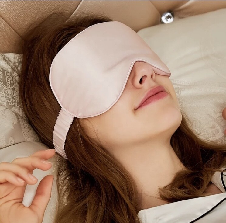 Pink Luxury 100% mulberry silk eye mask Mother's Day gift