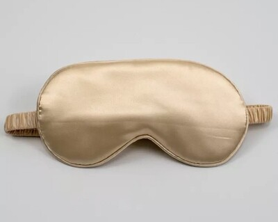 Gold mulberry silk eye mask/blindfold cover Christmas stocking filler UK gifts