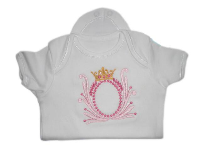 Crown princess new born & premie baby girl boy onesie romper vest gifts UK personalised