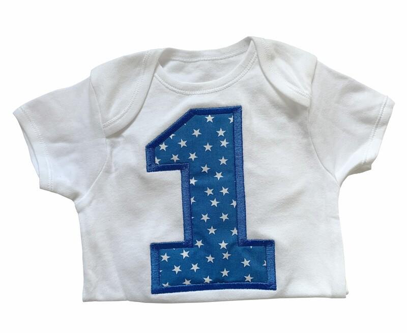 No 1 milestone birthday baby boy or girl onesie romper vest gifts UK personalised