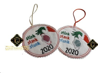 2020 Christmas stink stank stunk memento tree hanging ornament coaster wall gift decoration