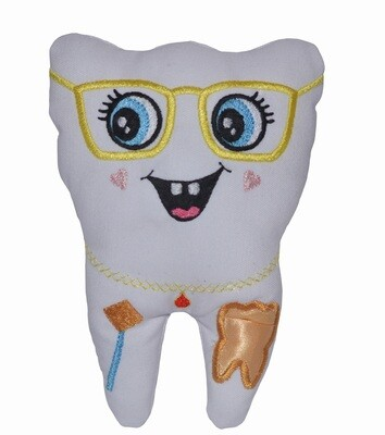 Tooth fairy pillow & Glasses with Tiara, coin pocket personalised toothfairy pillow with coin pocket