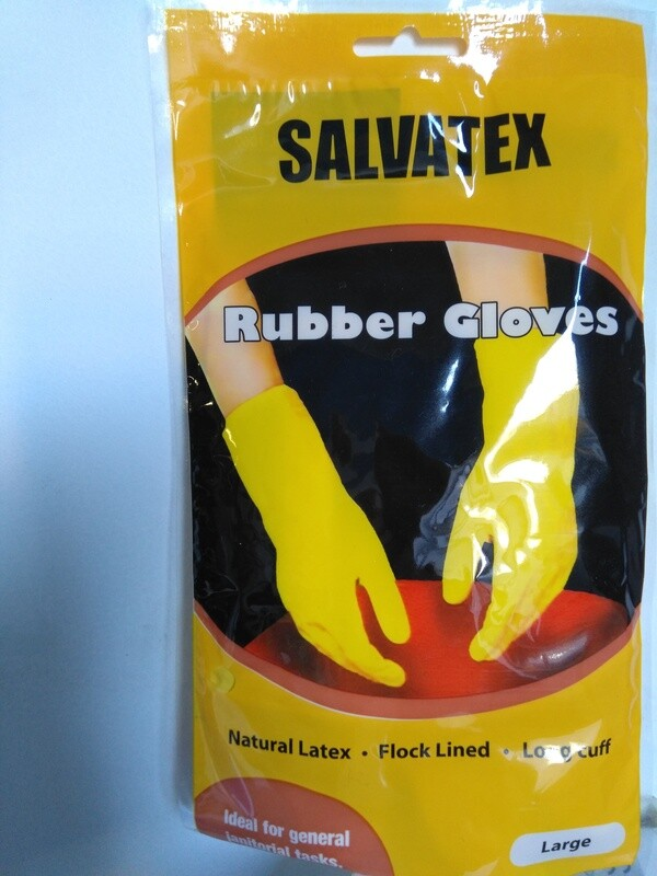 Gloves, Latex Yellow - pair in sizes - S, M, L & XL