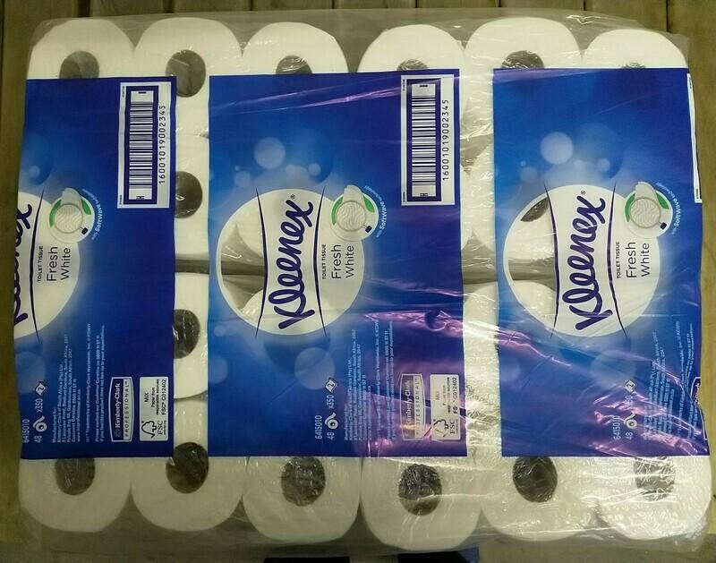 Toilet Paper - Kleenex Deluxe 2Ply in 12 & 48 roll packs