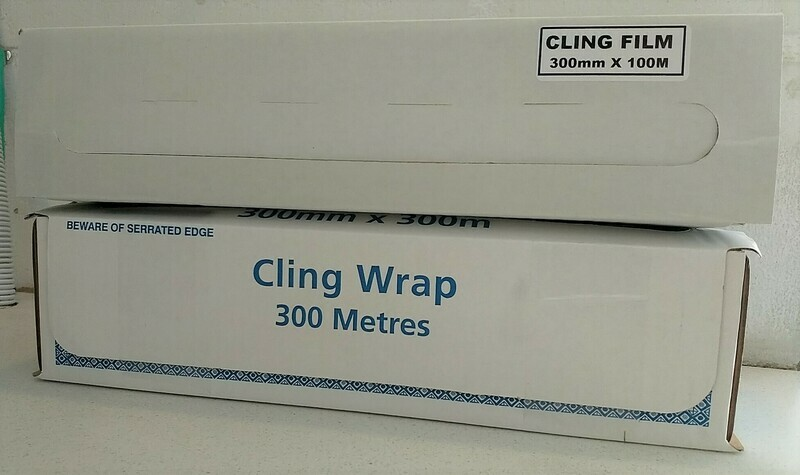 Cling Wrap 300mm wide x 100mtrs / 300mtrs