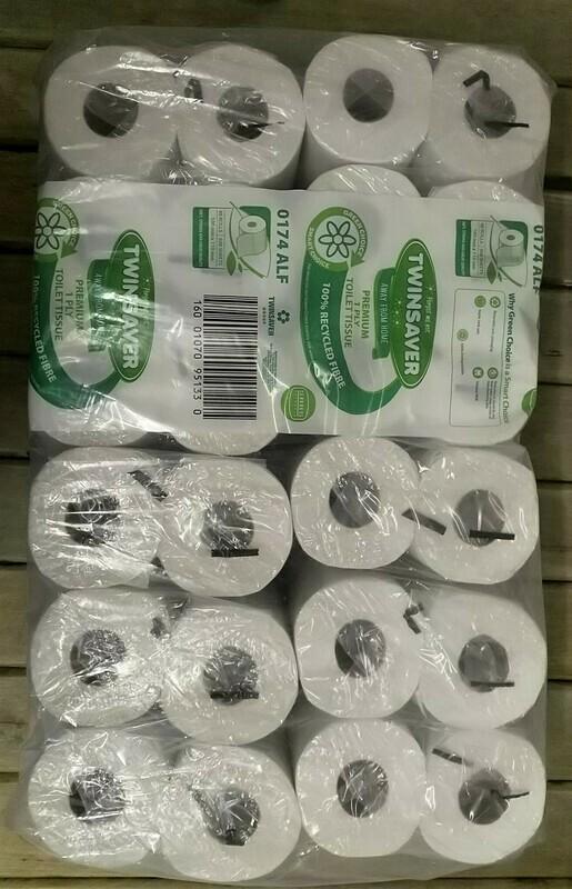 Toilet Paper Twinsaver 1ply - 16 & 48 rolls