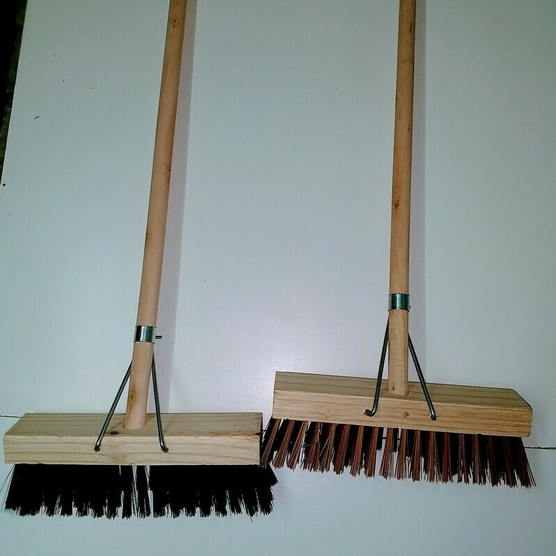 Broom - indoors & outdoors. Hard & Soft bristle - 305mm width