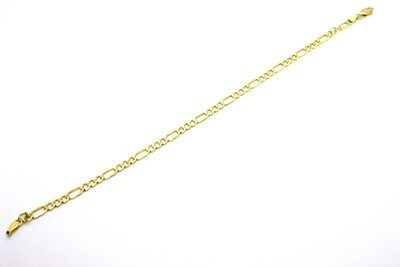 Pulsera de caballero hueca en oro de 10k