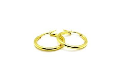Argollas de dama en oro de 10k