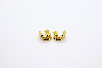 Aretes de dama en oro de 10k