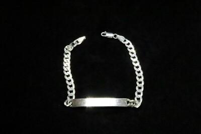 Pulsera de caballero con placa en plata .925