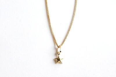 Cadena de dama con dije de estrella en oro de  10K