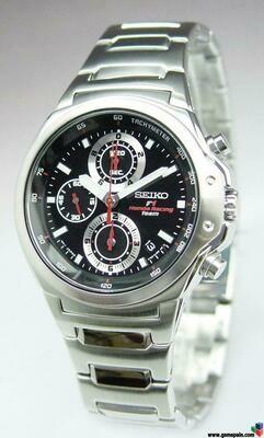 Reloj SEIKO con cronografo de caballero (batería)