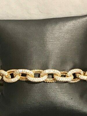 Bracelet Gourmette Rhinestones