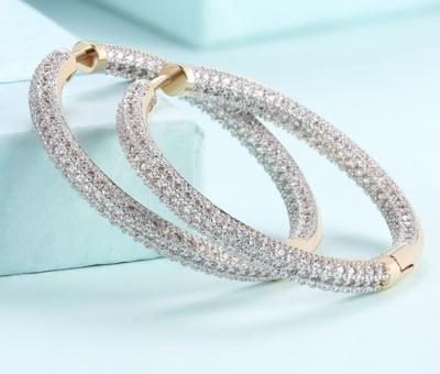 Earrings Creole with Rhinestones