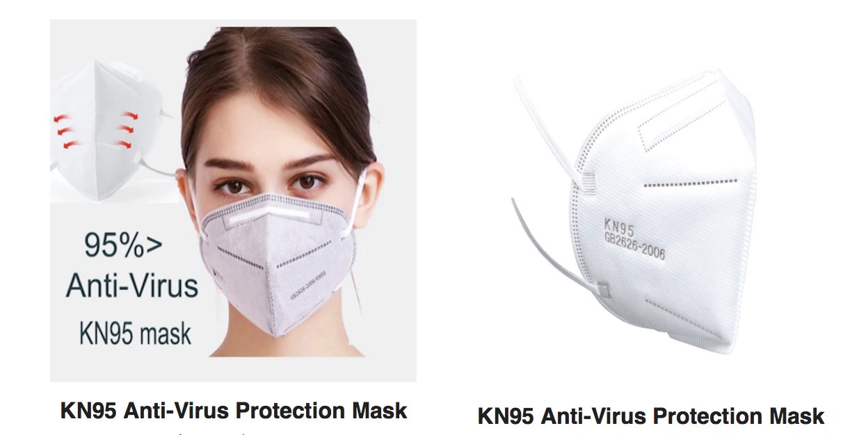 KN95 Masks ( Pack of 20 Masks )