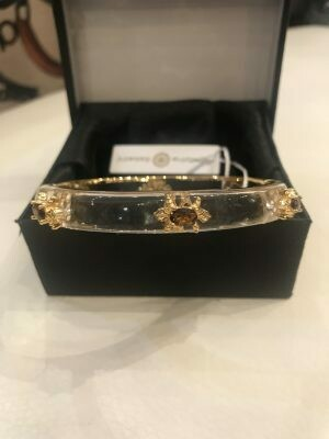 Bracelet Cristina Sabatini Lucite fleur de Lys