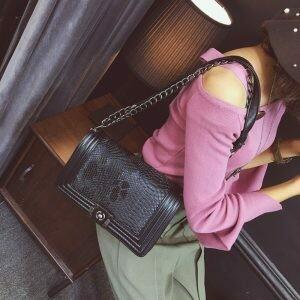 Clutch/Bag Gaby  Python Print vegan leather
