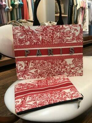 Handbag Tote CD Paris with pochette