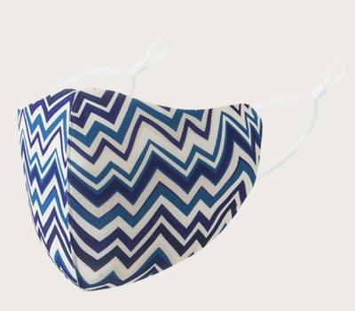Mask Blue Waves