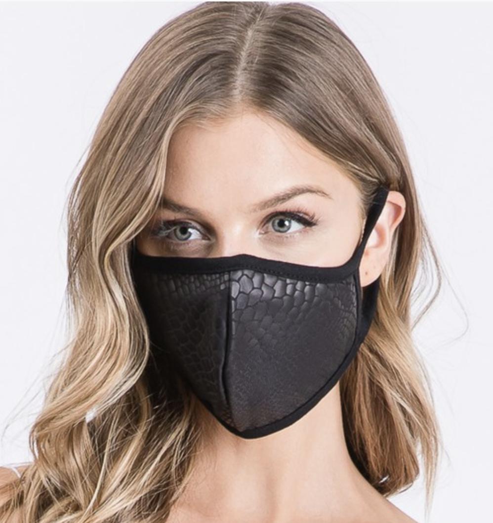 Mask Vegan leather