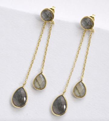 Earrings double stone
