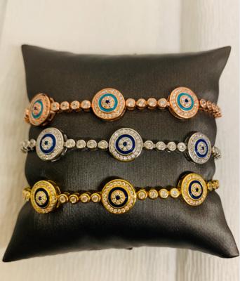 Bracelet 3 Evil Eyes