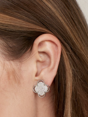 Earrings Open Clover