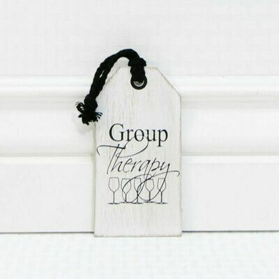 Group Therapy Wine Tag