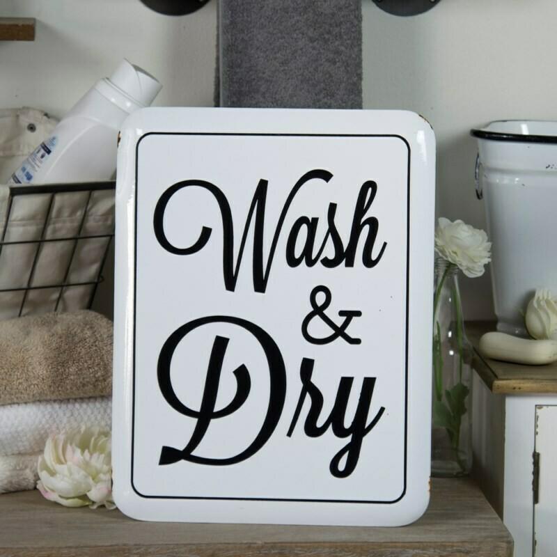 Wash & Dry Metal Sign