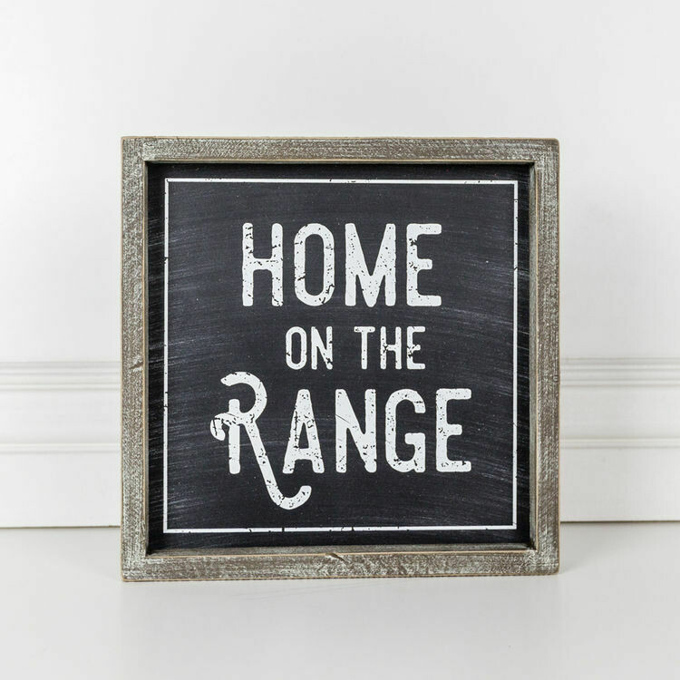 Home on the Range Wooden Sign