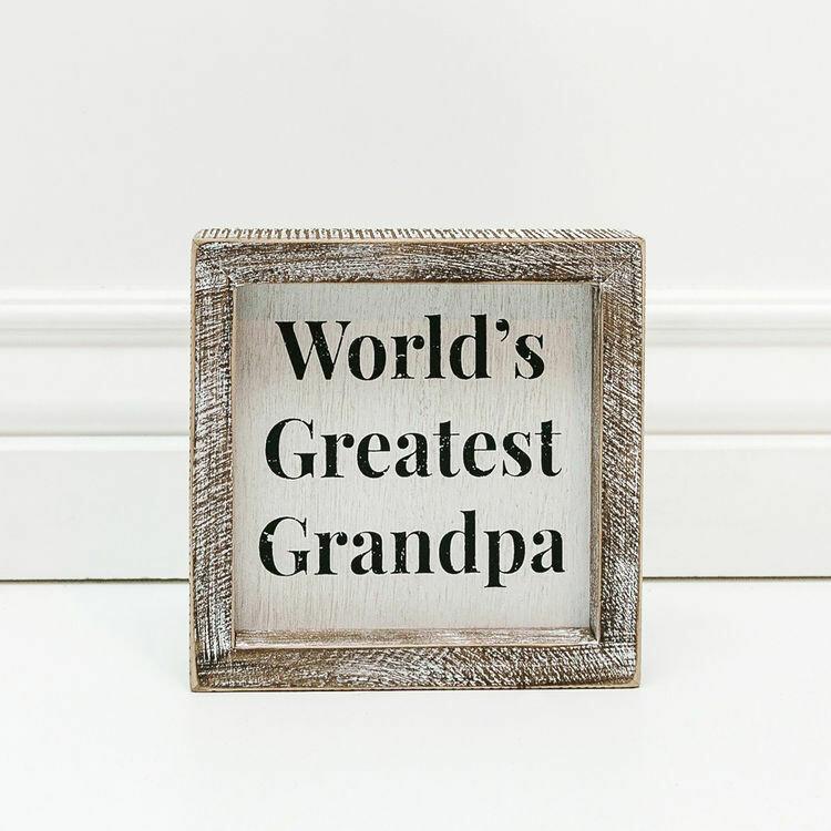 World's Greatest Grandpa Box Sign
