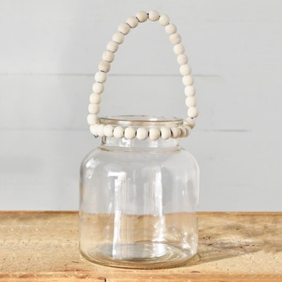 Jar with Beaded Handle