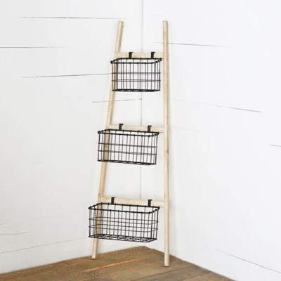 Ladder with 3 Baskets